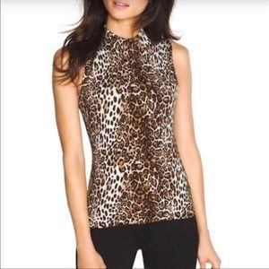NWT White House Black Market leopard print tank